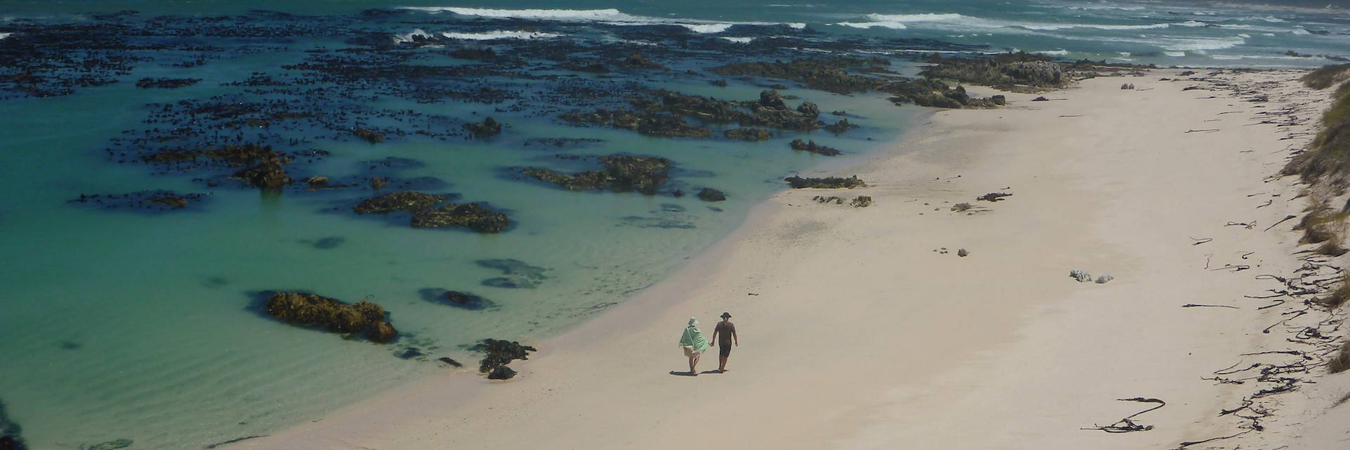 Walking on Pearly Beach South Africa