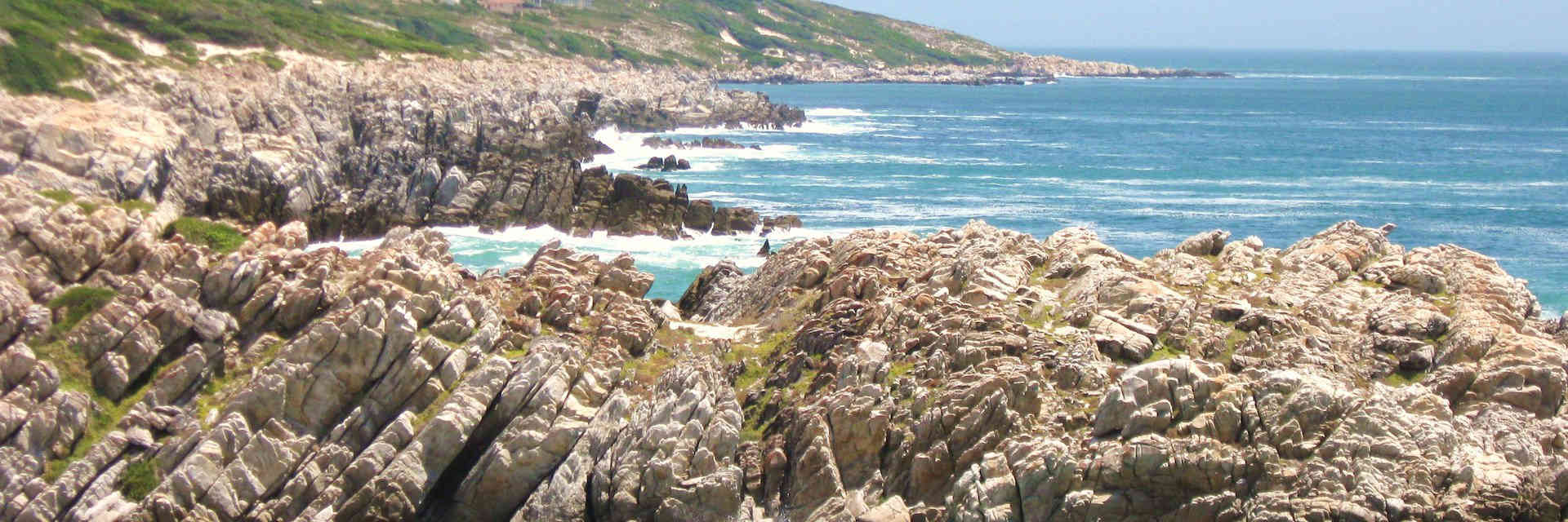 Rocky coastline at De Kelders South Africa